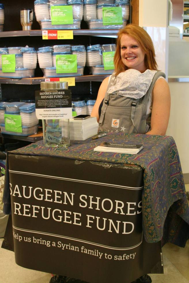 Our donation table at Your Independent Grocer. Photo by Elizabeth Davaze